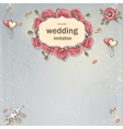 Wedding invitation card for your text on a gray vector