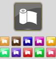 Toilet paper wc roll icon sign set with eleven vector