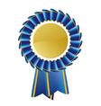 Blue rosette vector