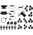Coffee cups and coffee beans vector
