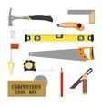 Carpenters tool kit vector