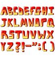 Stylized letters vector