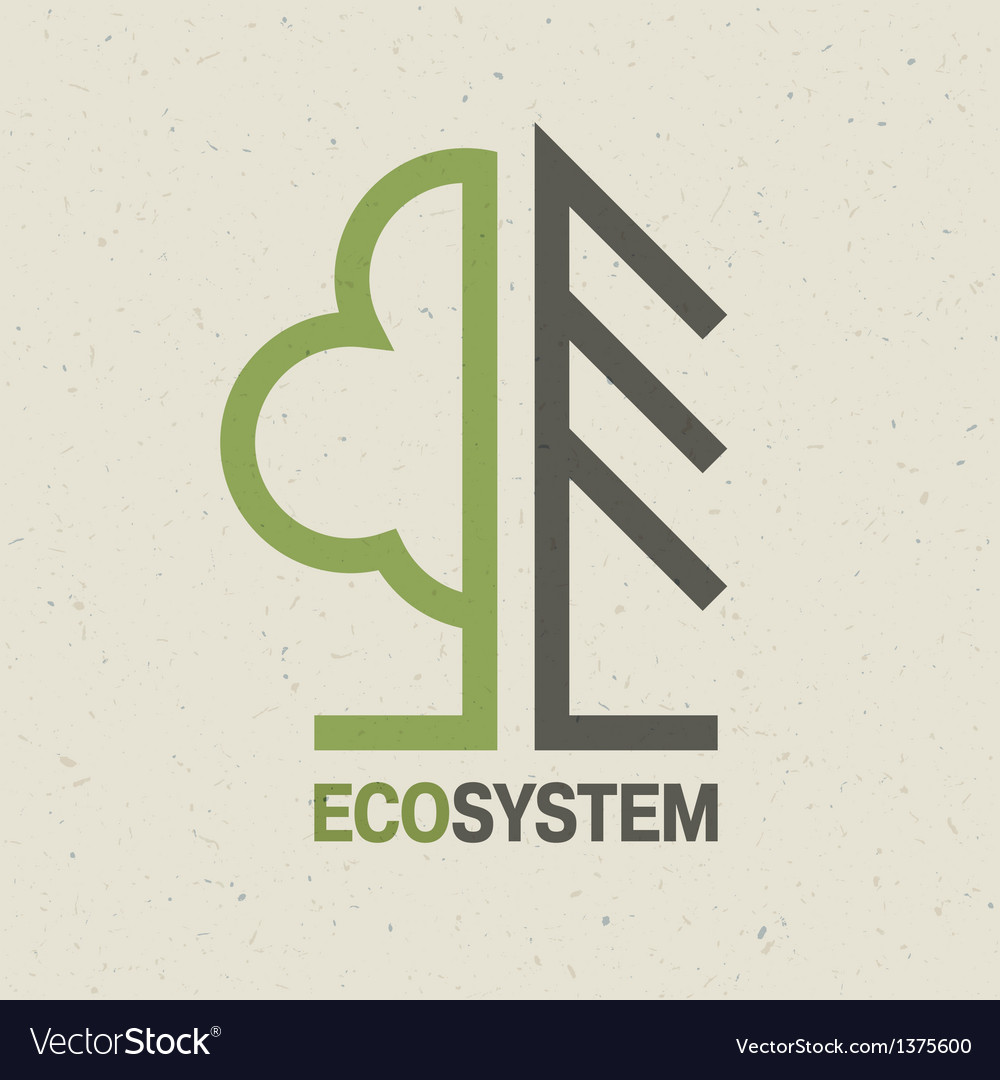 Ecology symbol concept vector | Price: 1 Credit (USD $1)