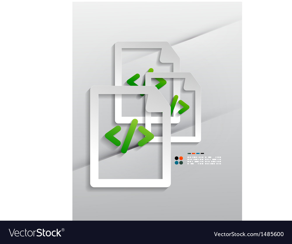File program paper design vector | Price: 1 Credit (USD $1)