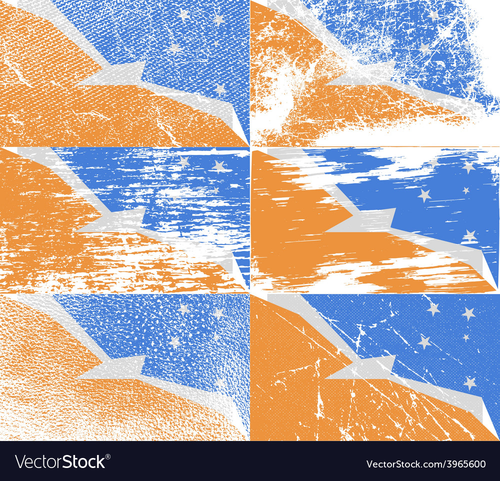 Flag of tierra del fuego province with old texture vector   Price: 1 Credit (USD $1)