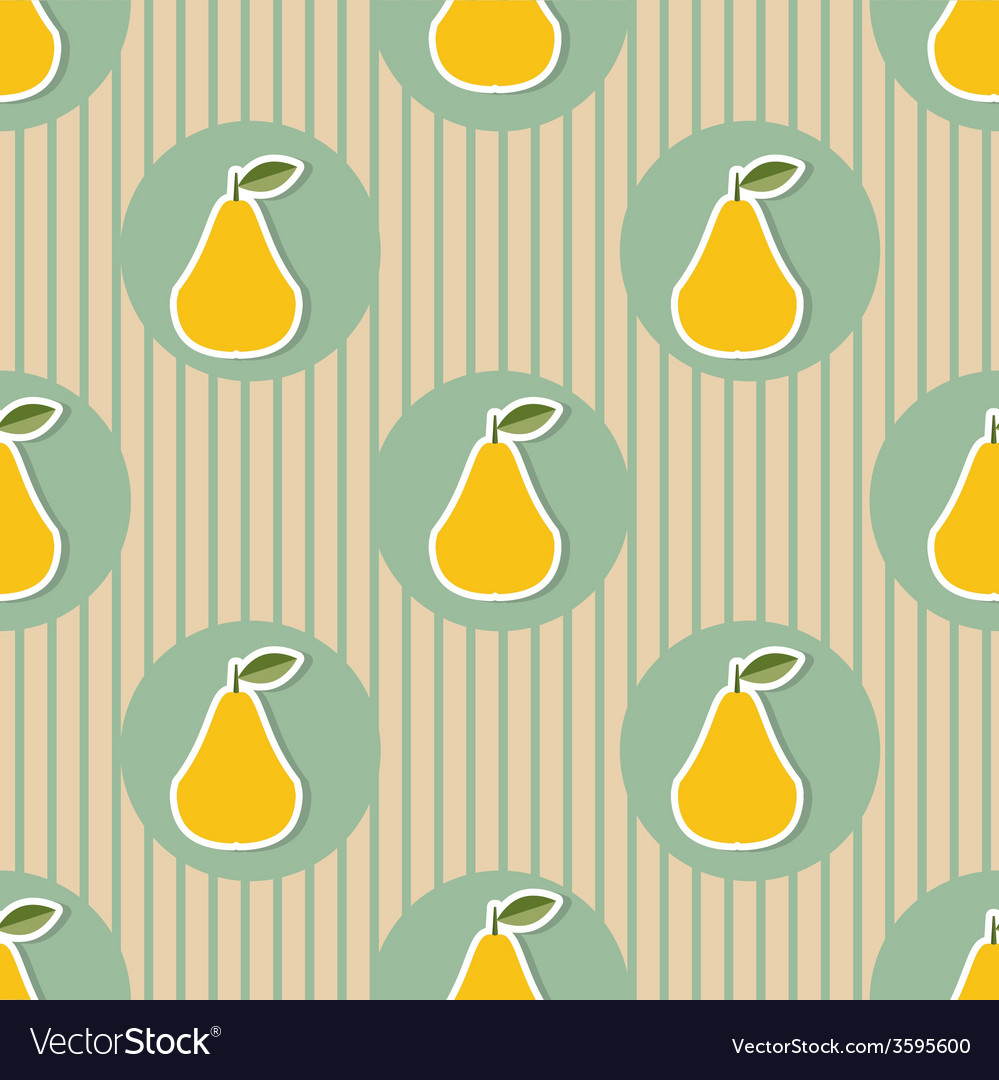 Pear pattern seamless texture with ripe pears vector   Price: 1 Credit (USD $1)