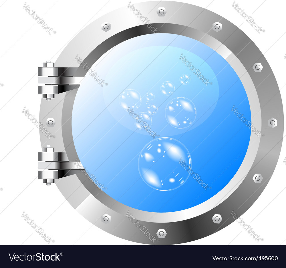 Ships porthole on a white wall vector | Price: 1 Credit (USD $1)