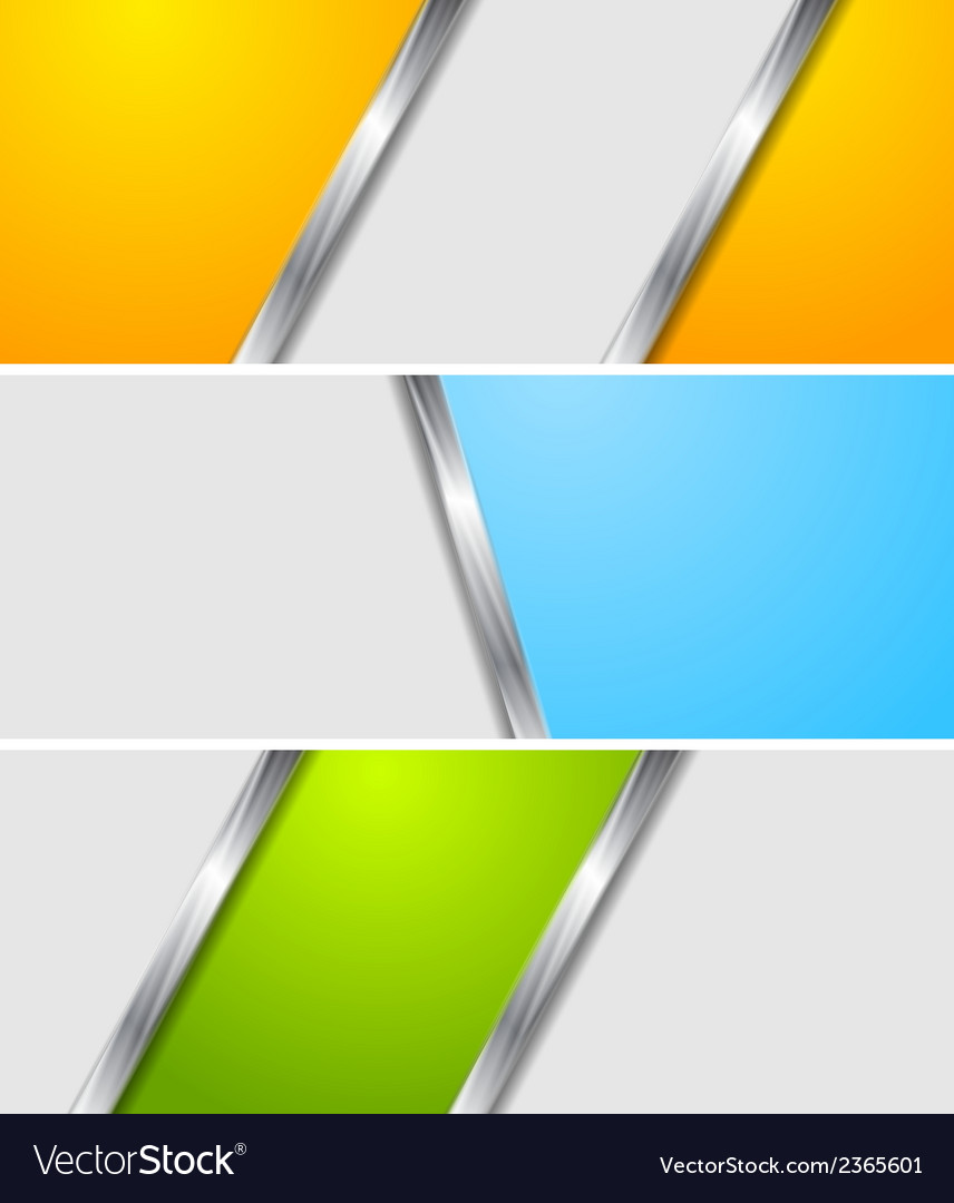 Abstract colourful metallic banners vector | Price: 1 Credit (USD $1)