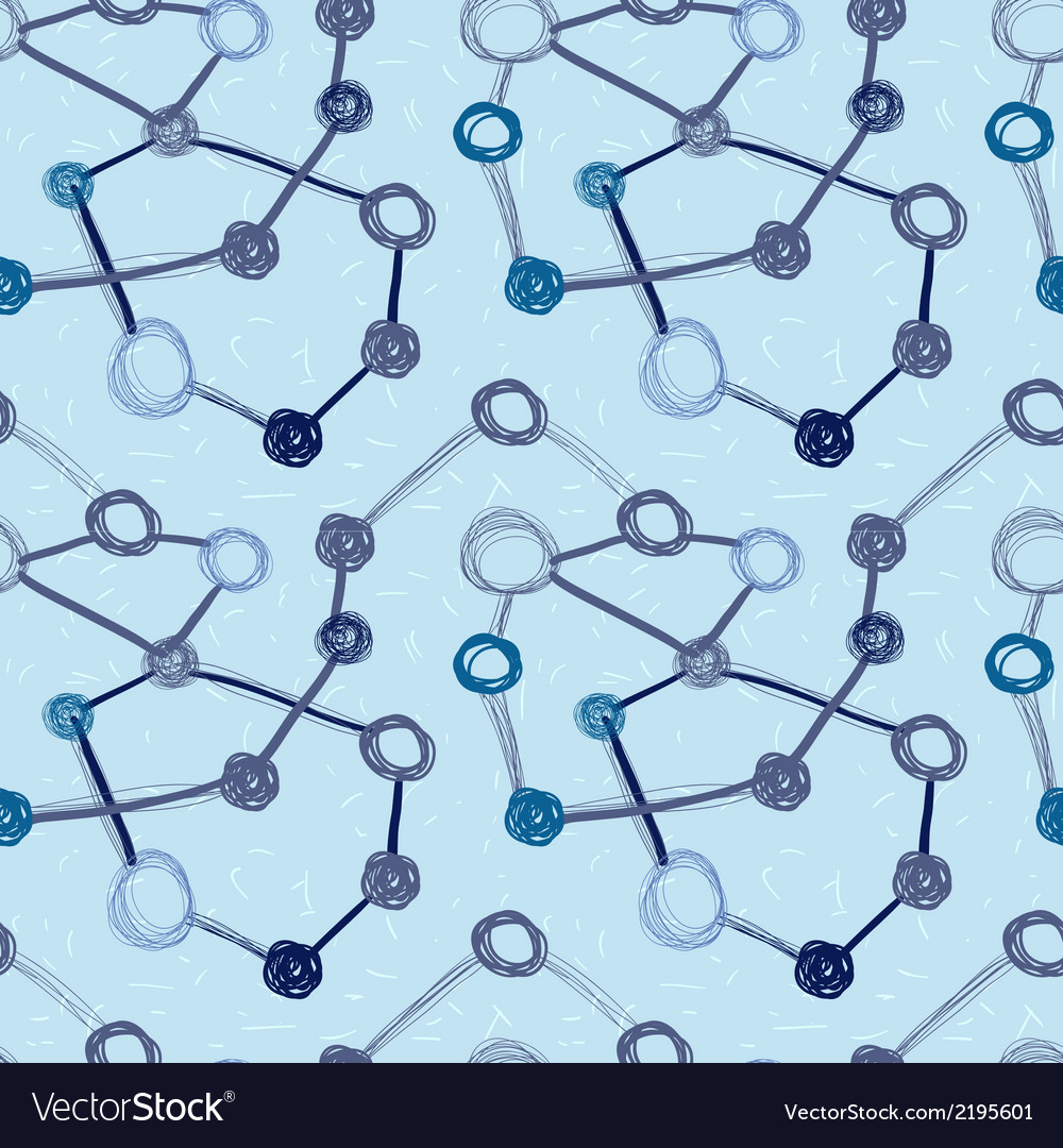 Abstract seamless background molecule structure vector | Price: 1 Credit (USD $1)