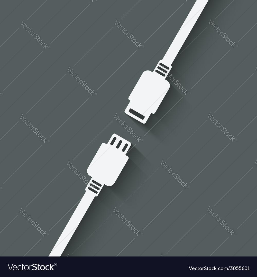 Connection concept symbol vector | Price: 1 Credit (USD $1)