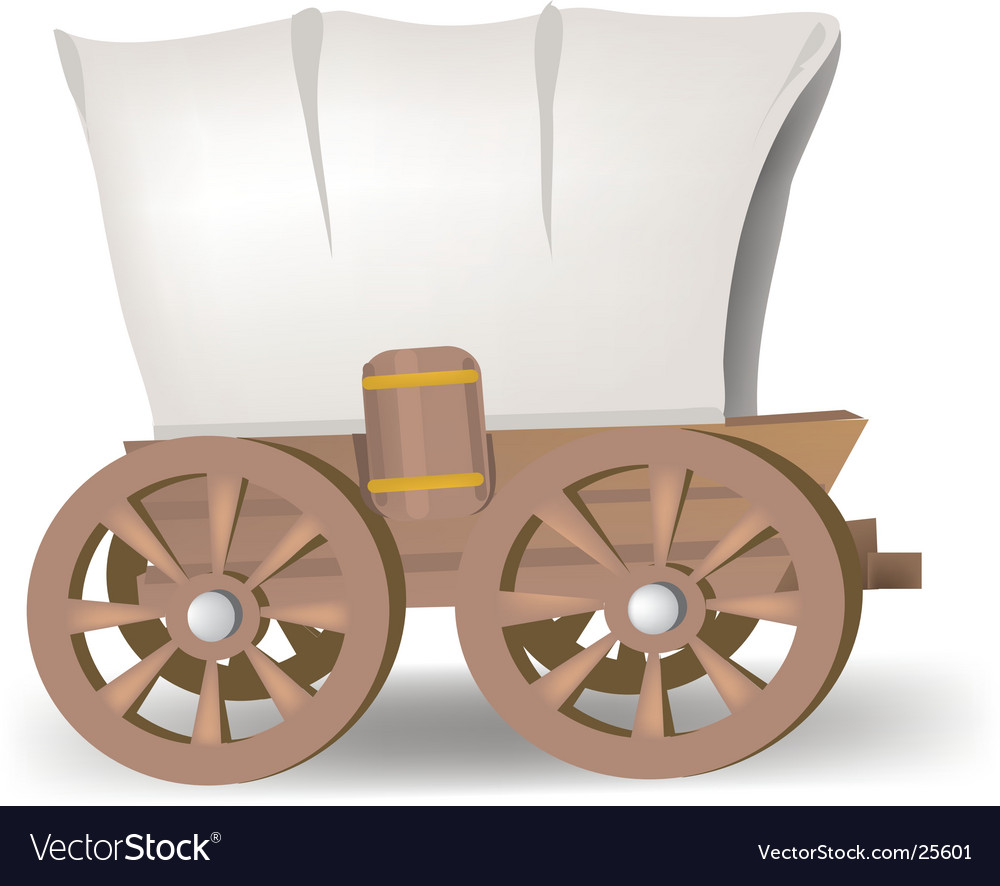 Covered wagon vector | Price: 1 Credit (USD $1)