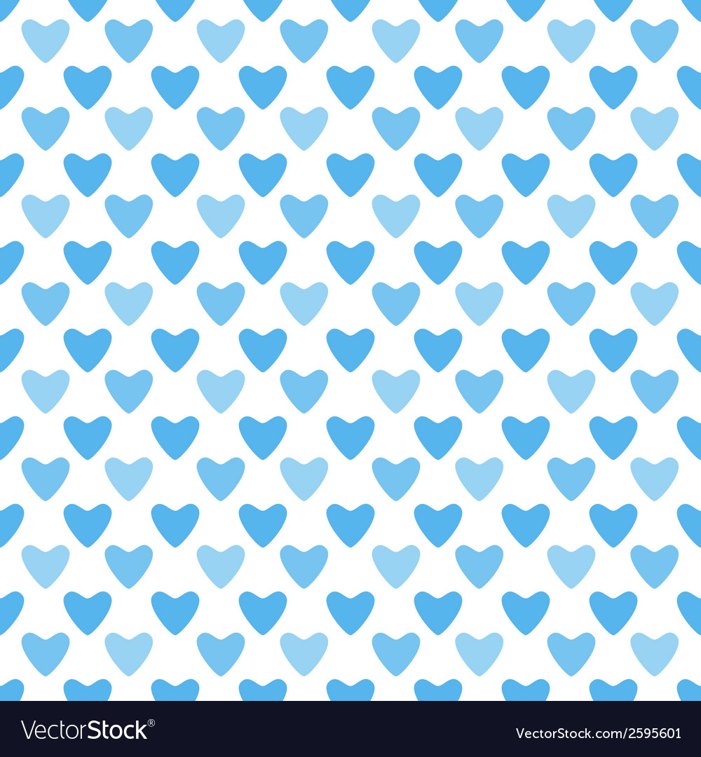 Cute blue simple seamless pattern tiling endless vector | Price: 1 Credit (USD $1)