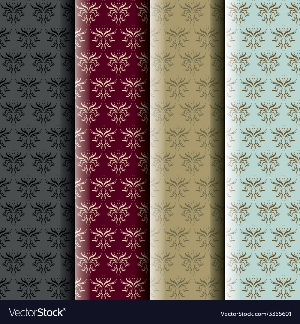 Damask pattern collection vector | Price: 1 Credit (USD $1)