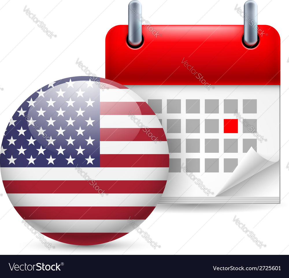Icon of national day in usa vector | Price: 1 Credit (USD $1)