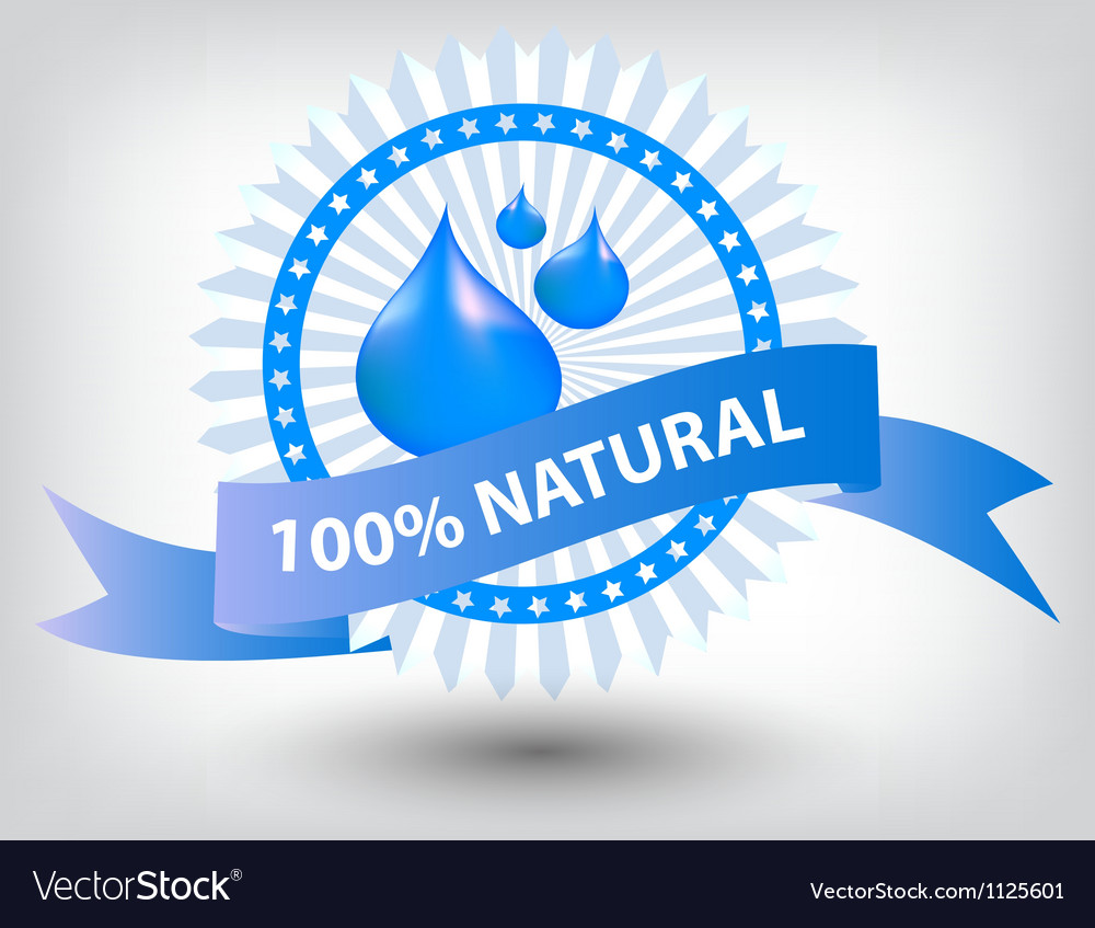Natural blue label vector | Price: 1 Credit (USD $1)