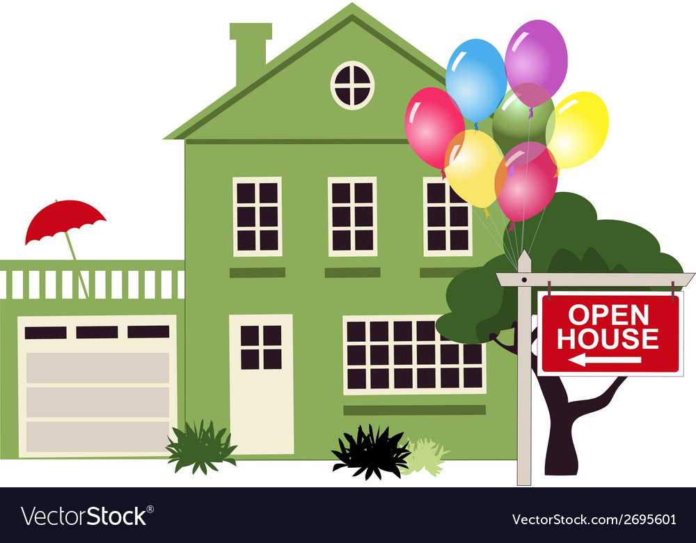 Open house vector | Price: 1 Credit (USD $1)