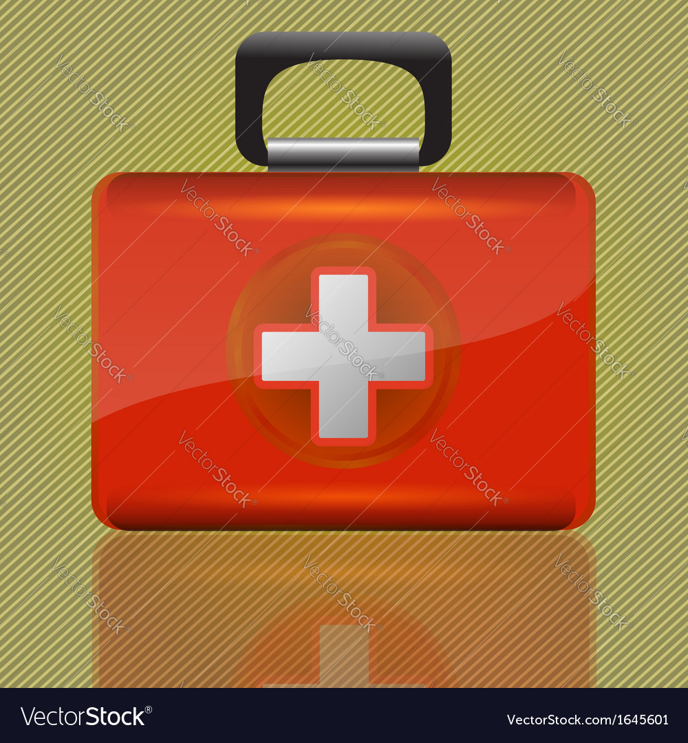 Red aid case vector | Price: 1 Credit (USD $1)