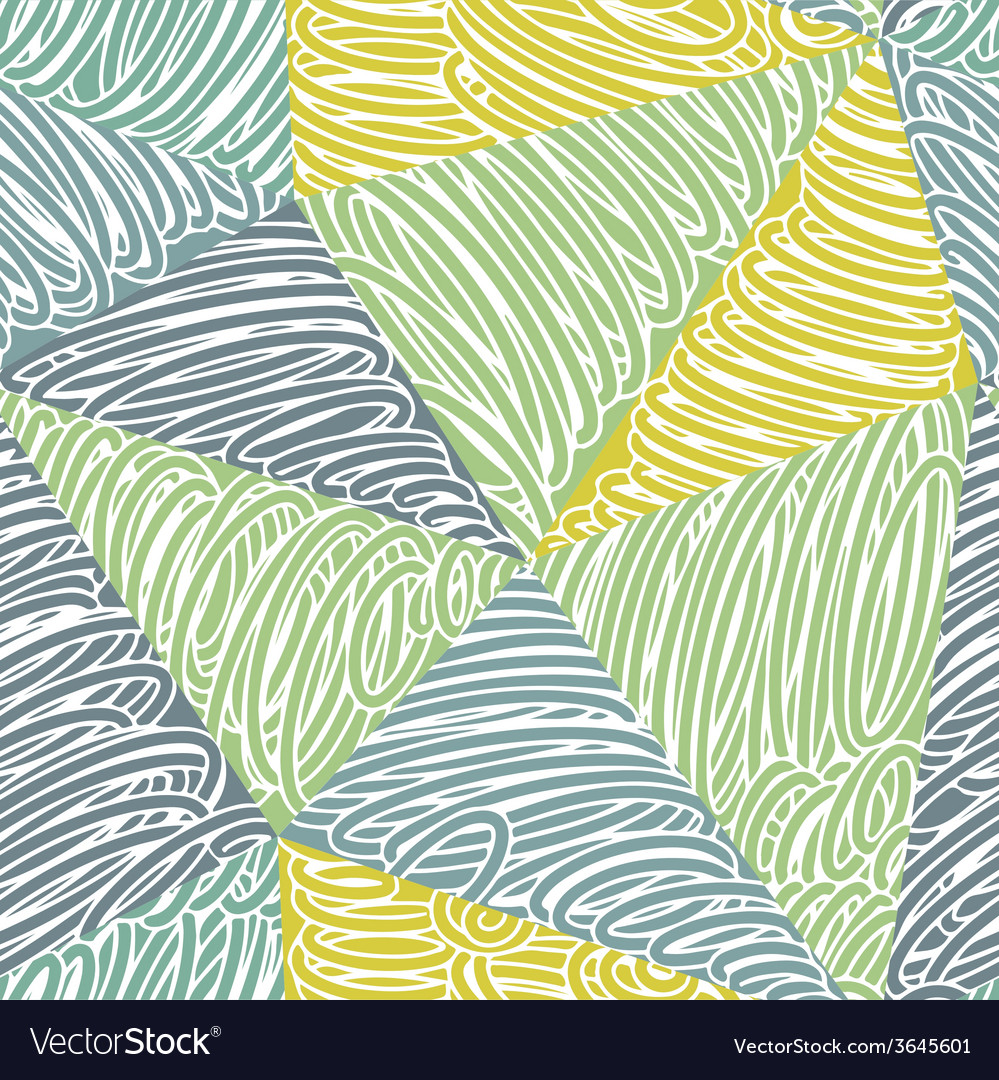 Seamless abstract doodle pattern vector | Price: 1 Credit (USD $1)