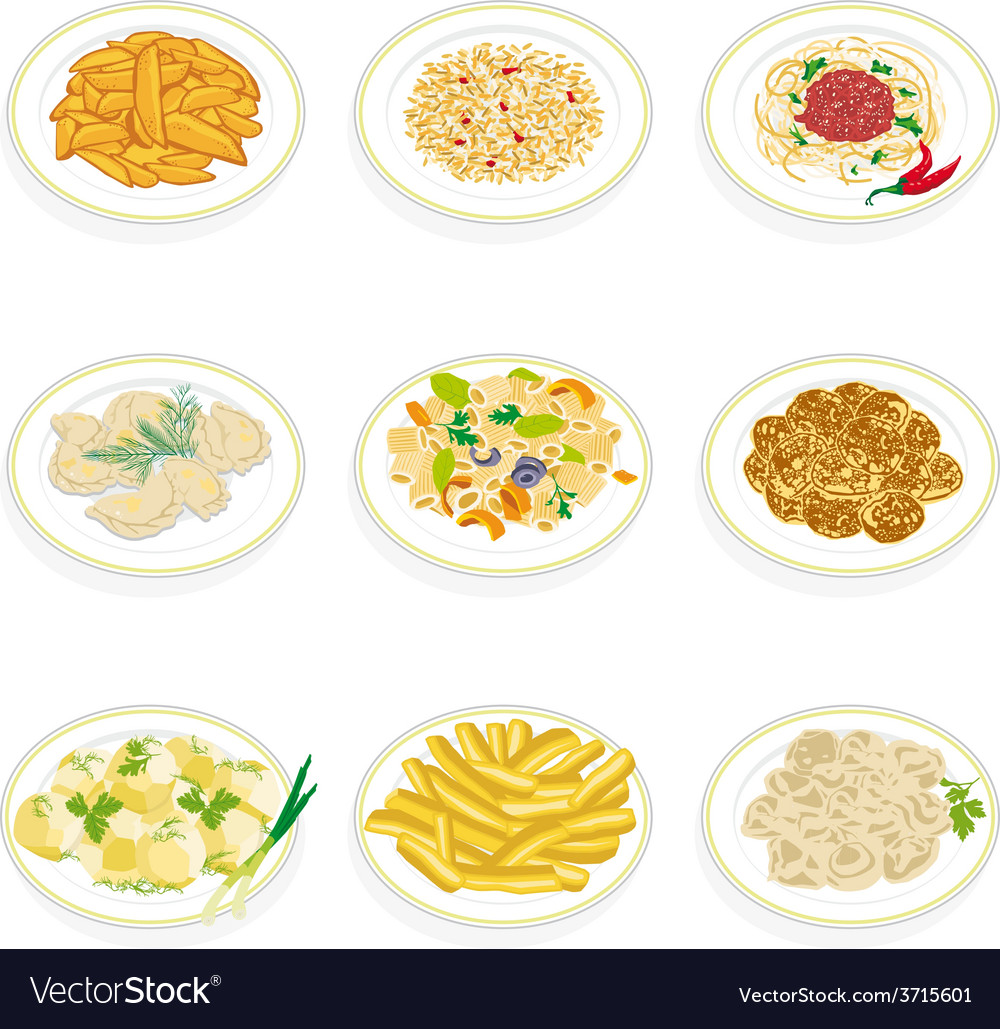 Set of food vector | Price: 1 Credit (USD $1)
