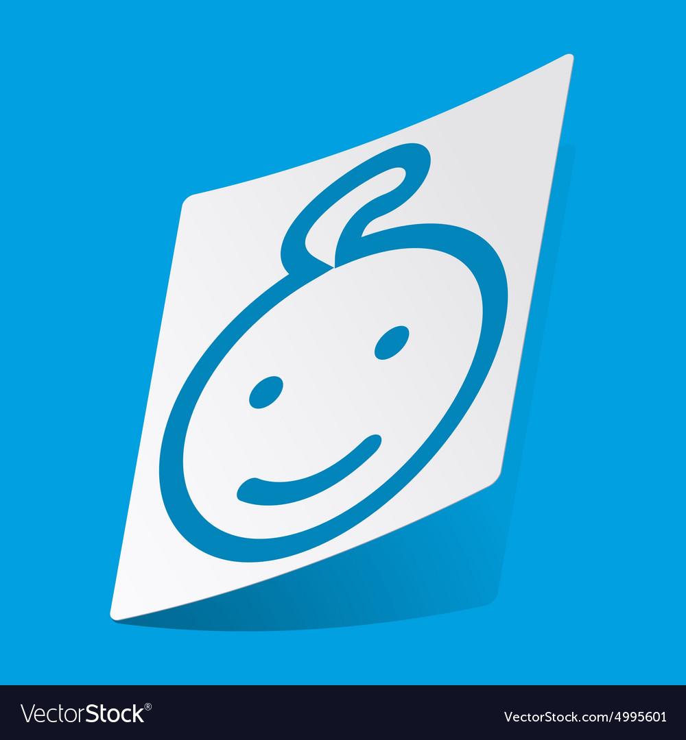 Smiling child sticker vector