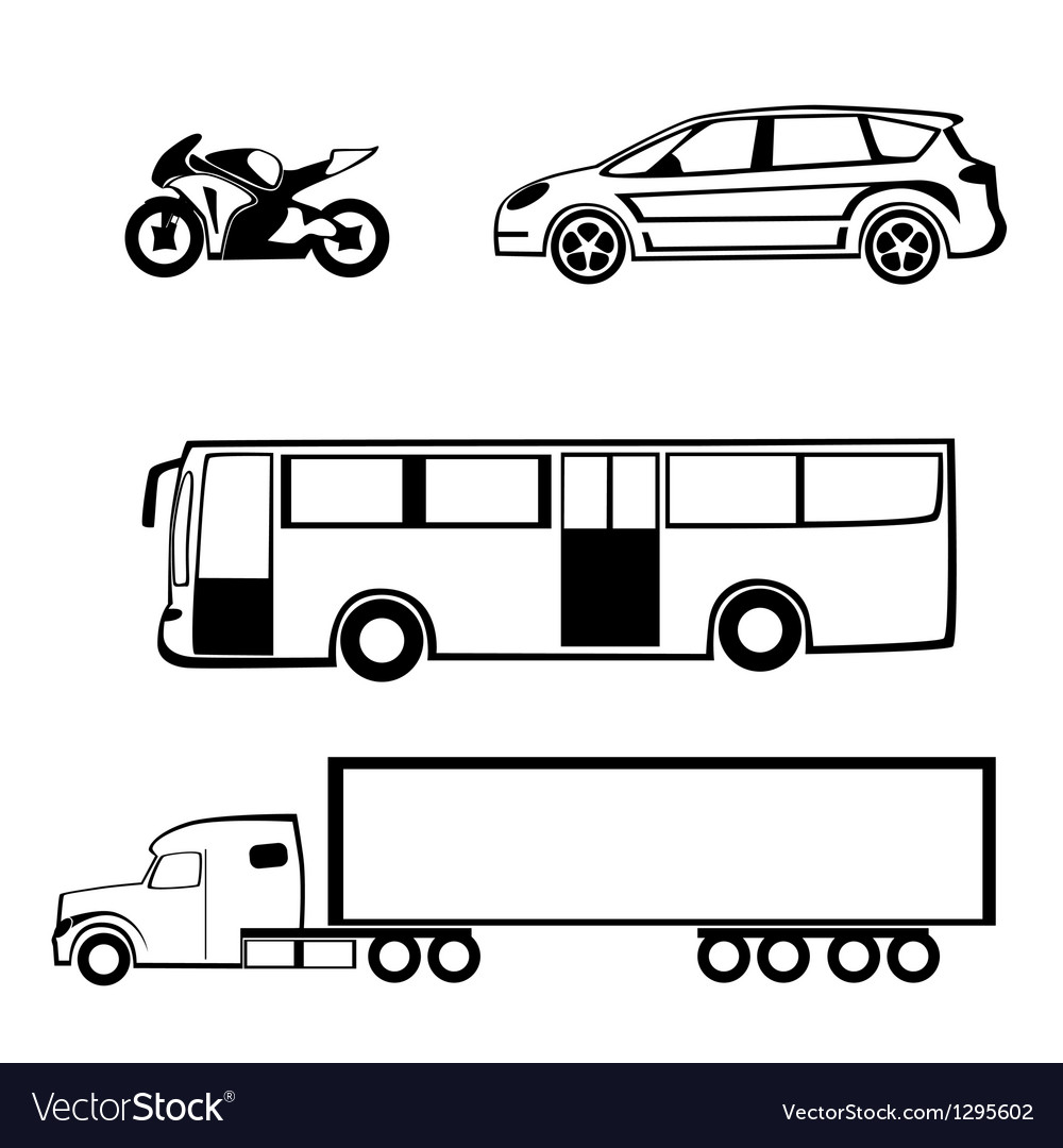 Bike car bus truck vector | Price: 1 Credit (USD $1)