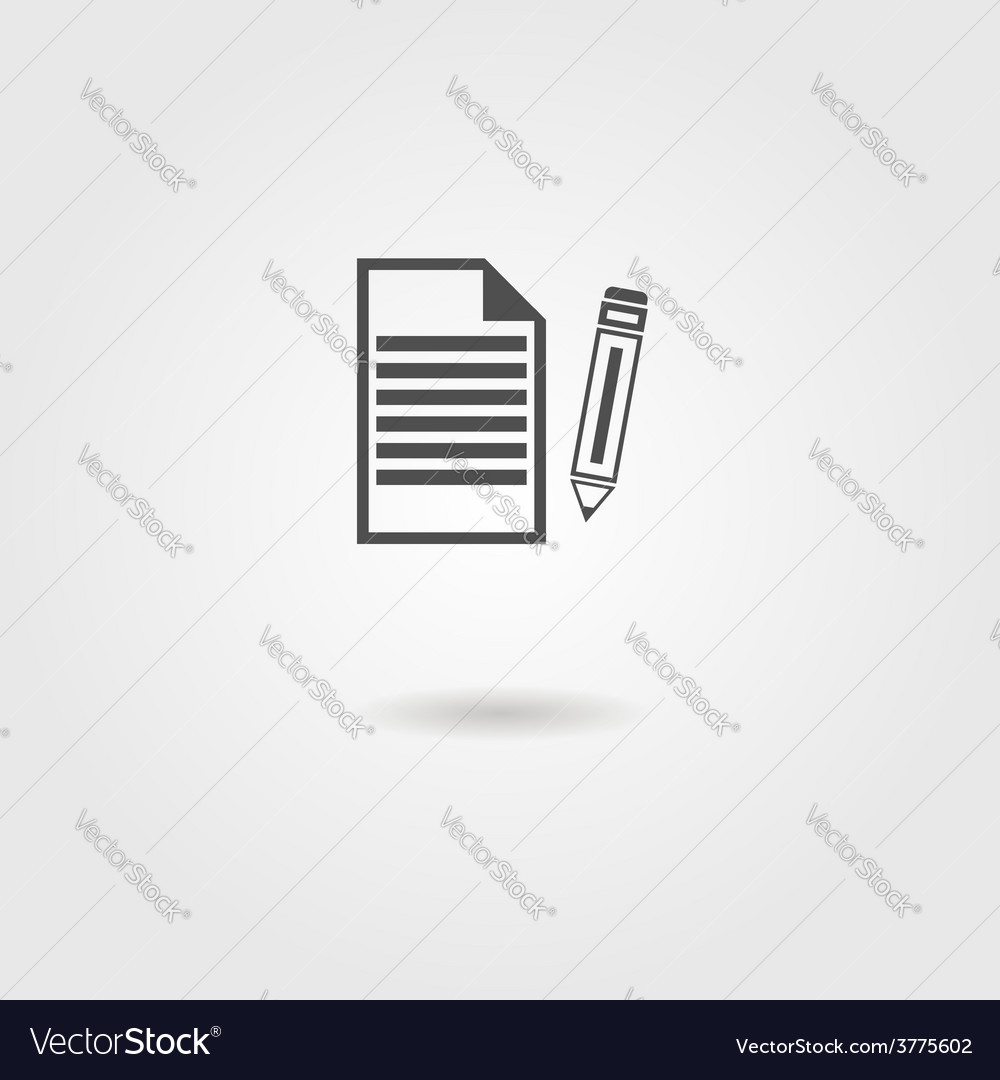 Black sheet of paper and pencil icon vector | Price: 1 Credit (USD $1)