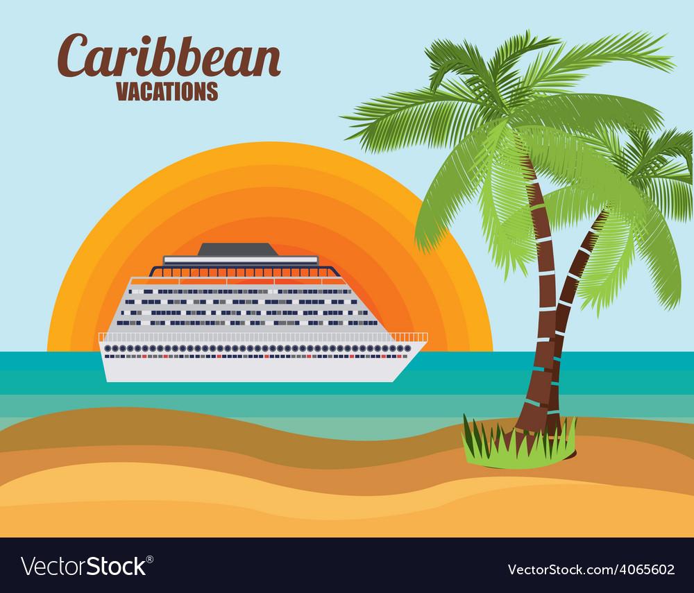 Caribbean cruise design vector   Price: 1 Credit (USD $1)