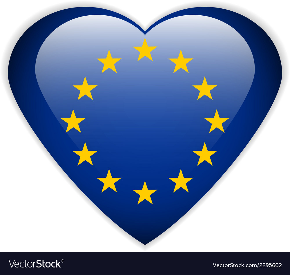 The european union flag button vector | Price: 1 Credit (USD $1)