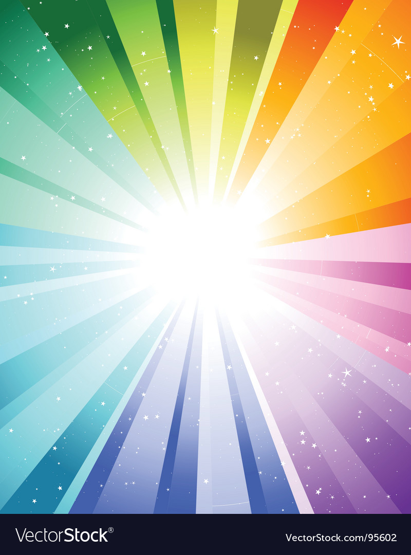 Festive color rays vector | Price: 1 Credit (USD $1)
