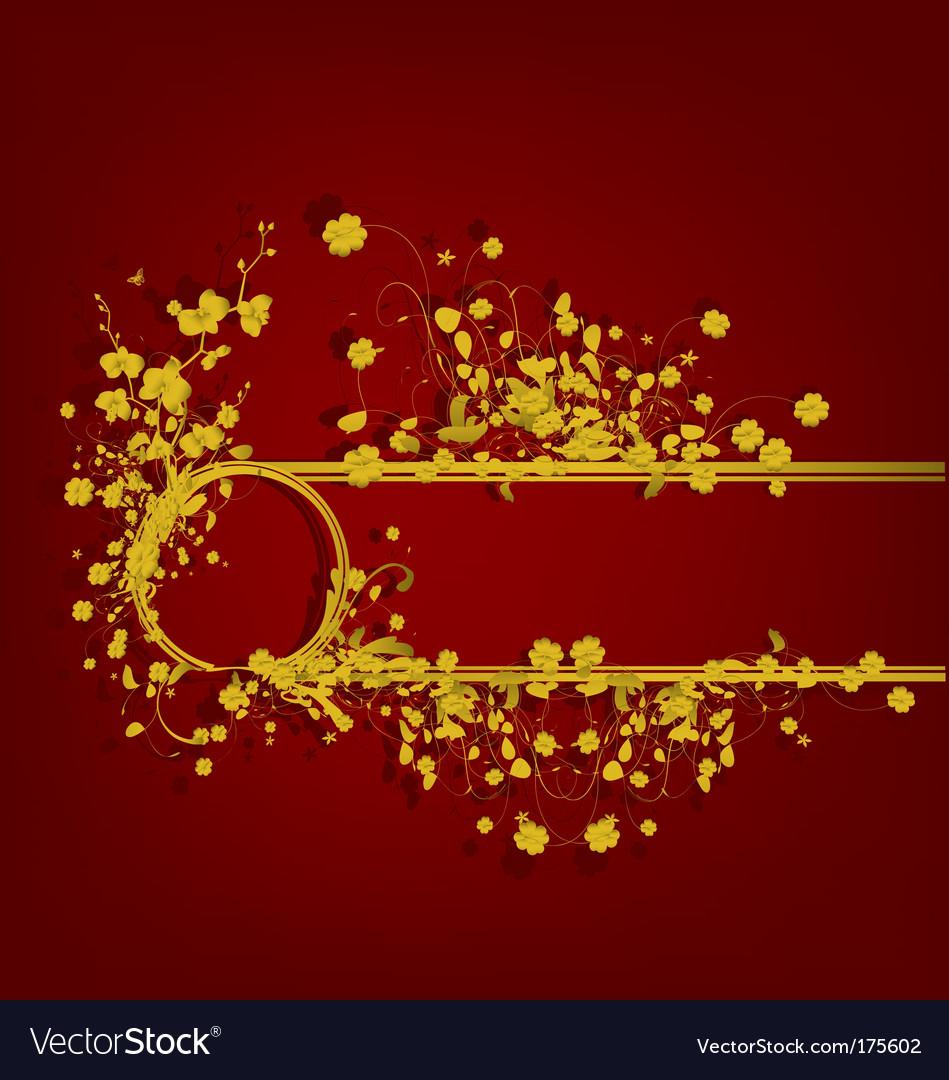 Golden vintage design vector | Price: 1 Credit (USD $1)