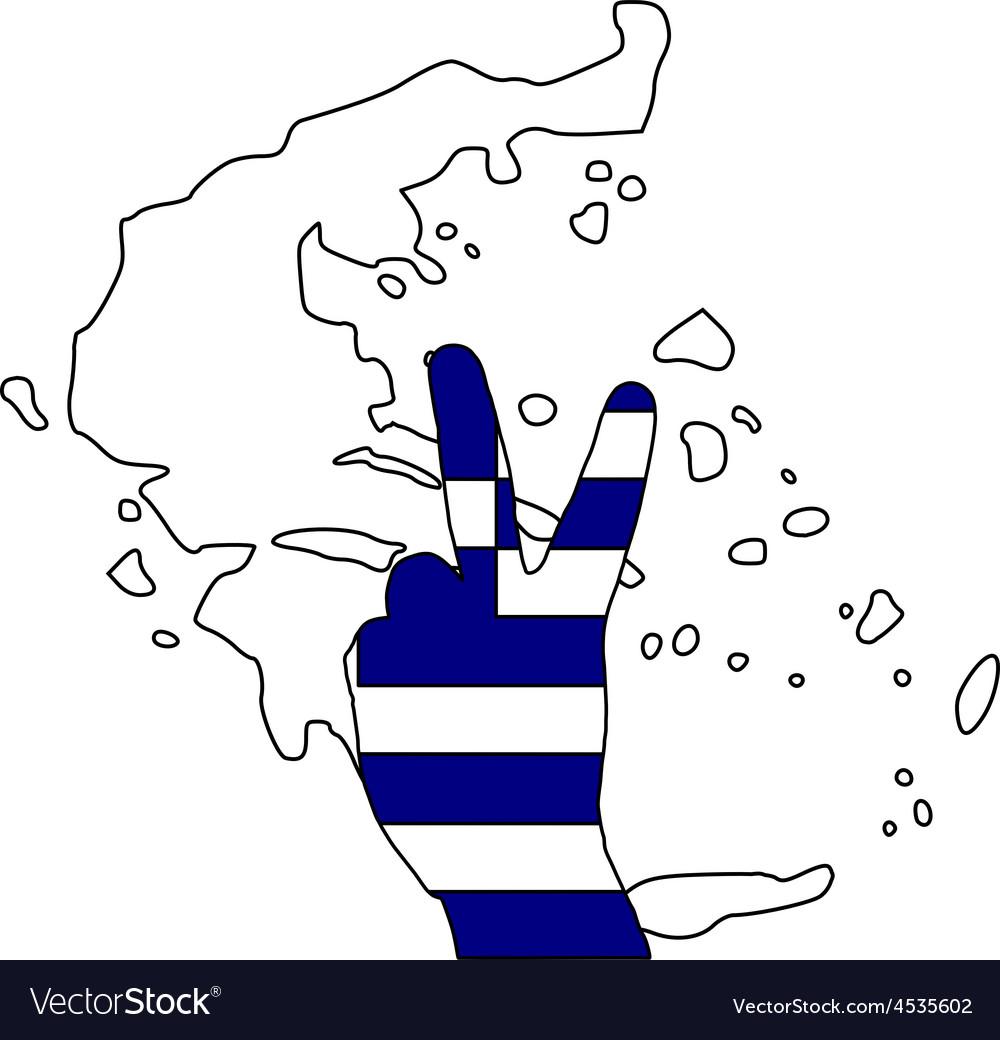 Greece hand signal vector | Price: 1 Credit (USD $1)