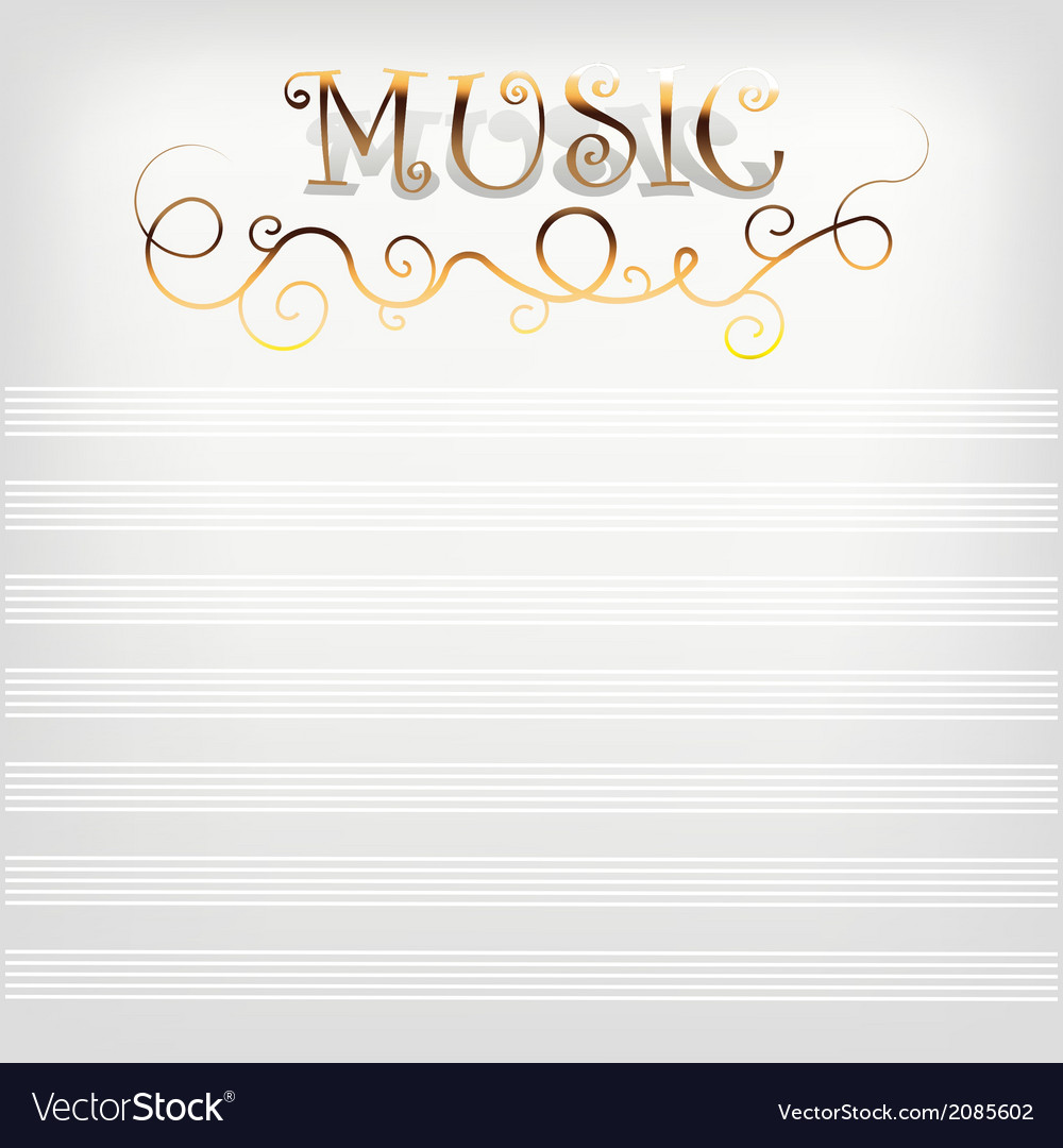Music background with notes line vector | Price: 1 Credit (USD $1)