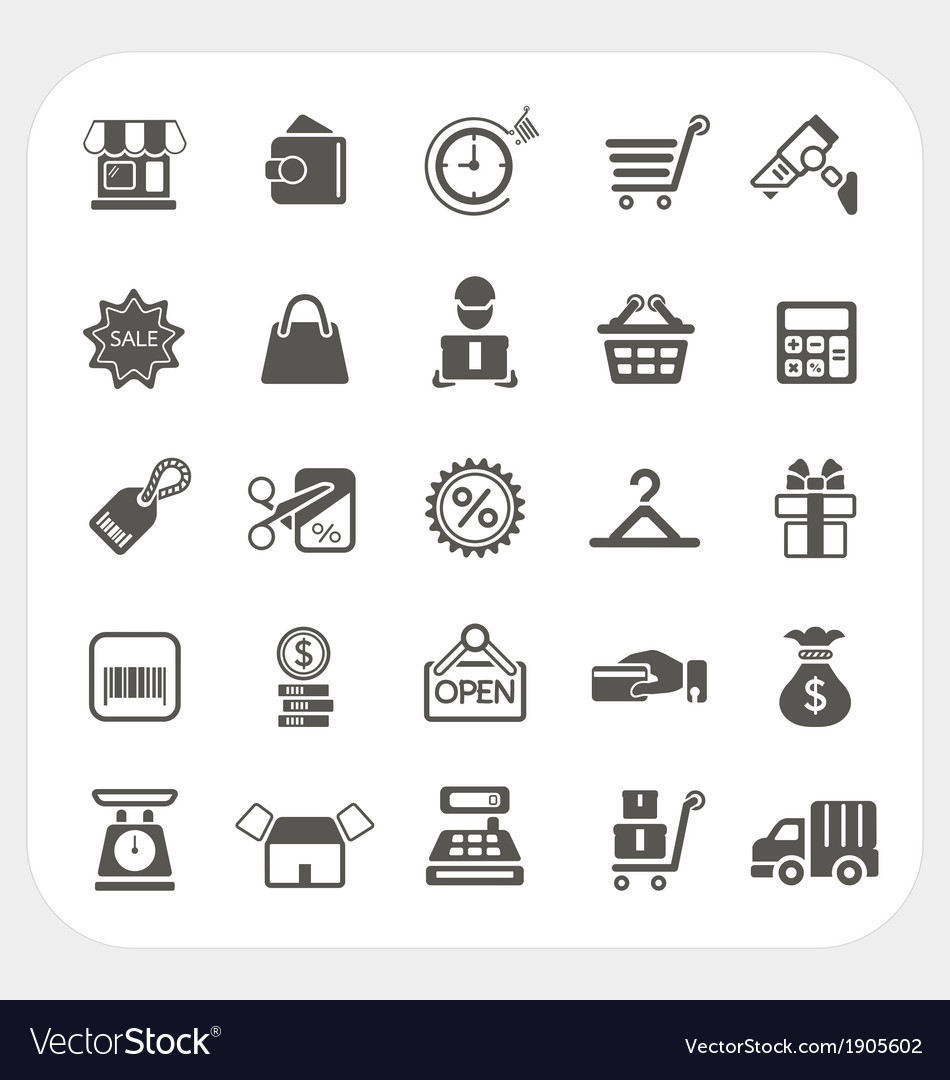 Shopping and finance icons set vector | Price: 1 Credit (USD $1)