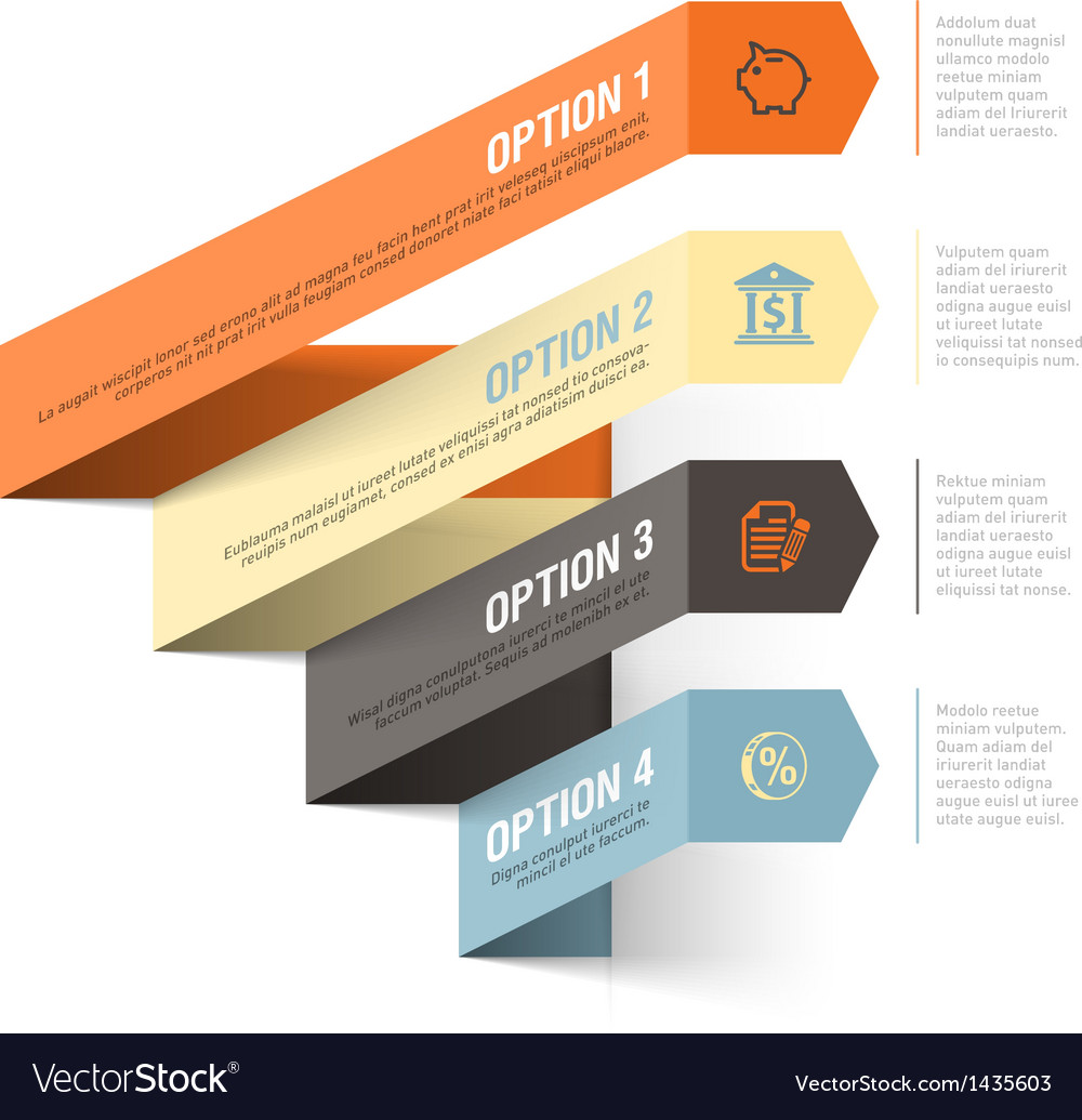 Bank theme abstract infographics template vector | Price: 1 Credit (USD $1)