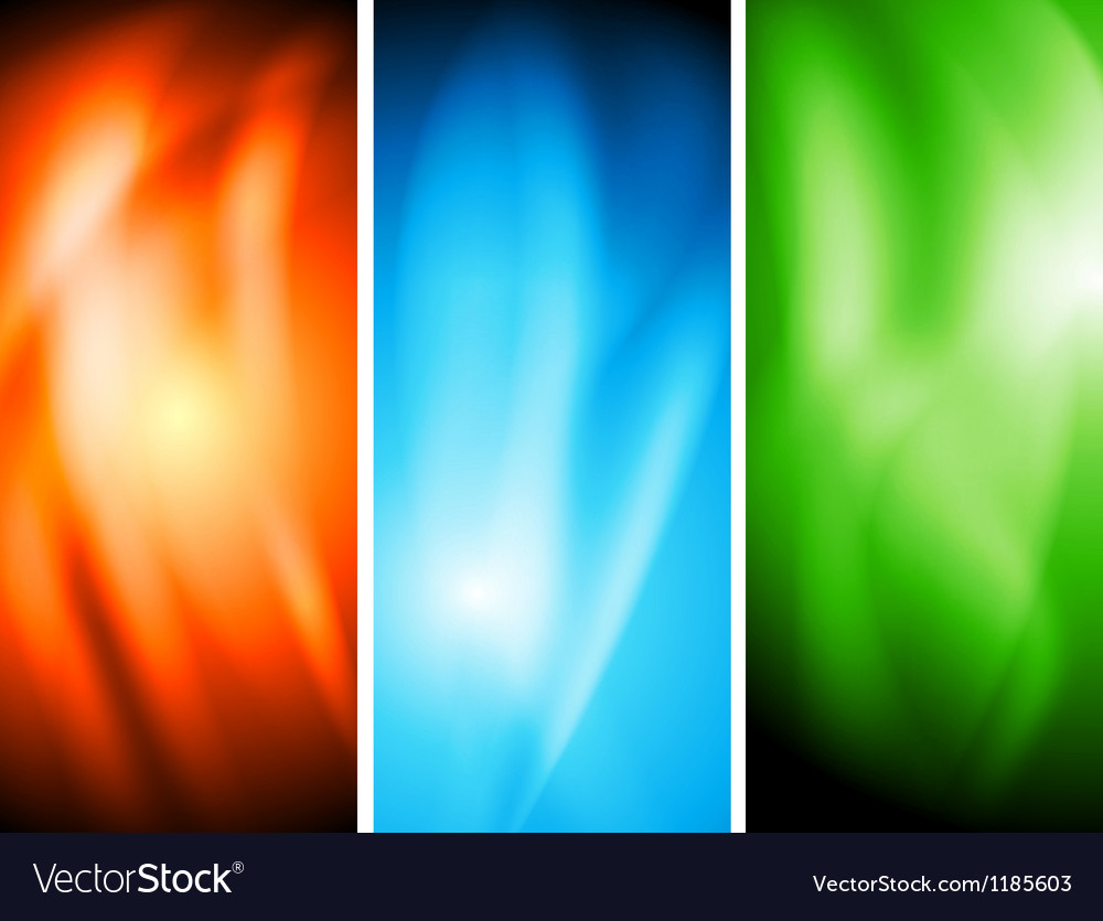Colourful wavy banners vector | Price: 1 Credit (USD $1)