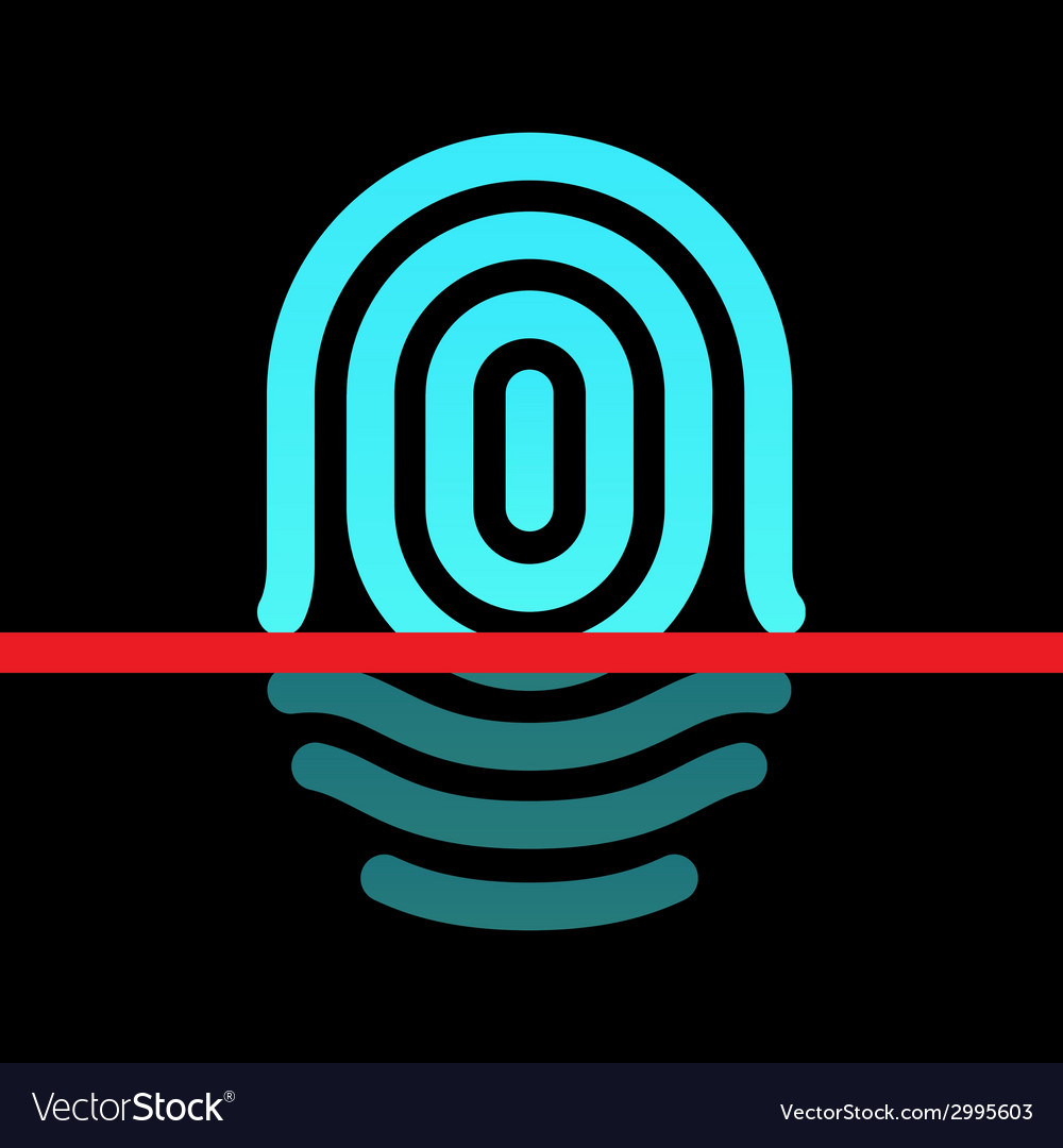 Fingerprint identification system - whorl type vector | Price: 1 Credit (USD $1)