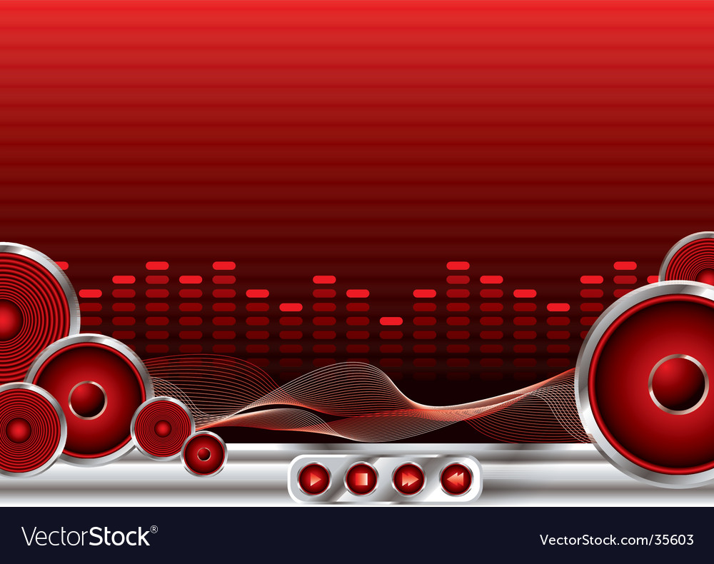 Music sound vector | Price: 1 Credit (USD $1)