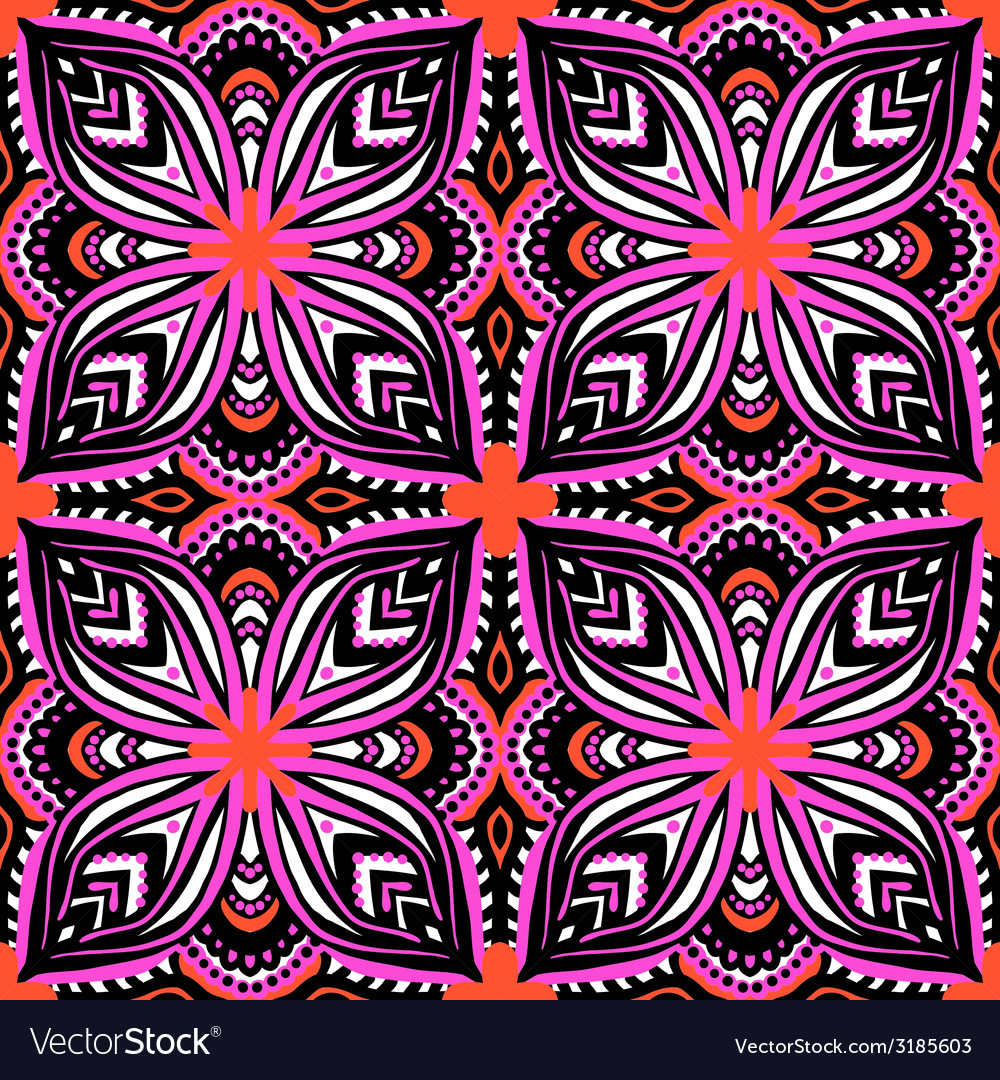 Pattern with ethnic and tribal motifs vector | Price: 1 Credit (USD $1)