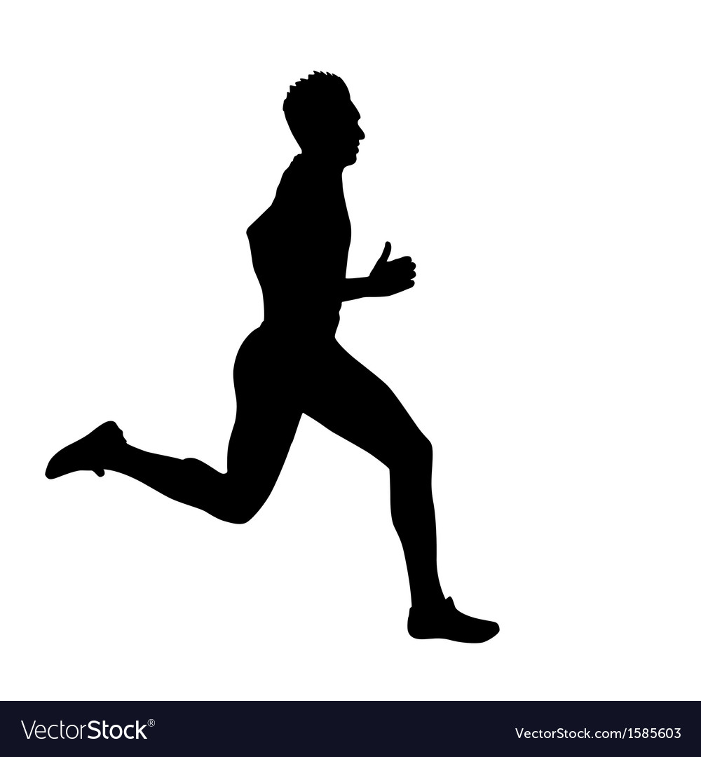 Running silhouettes vector   Price: 1 Credit (USD $1)