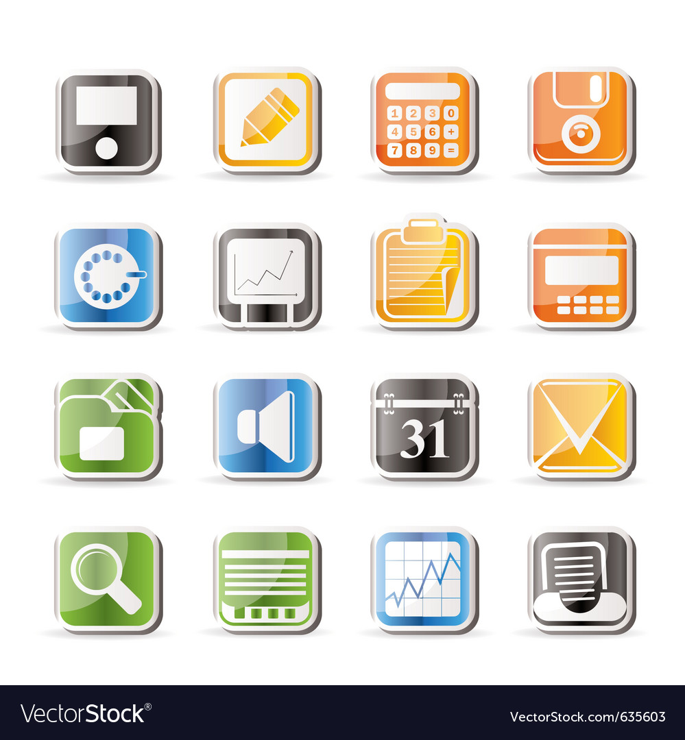 Simple business and finance icons vector | Price: 1 Credit (USD $1)
