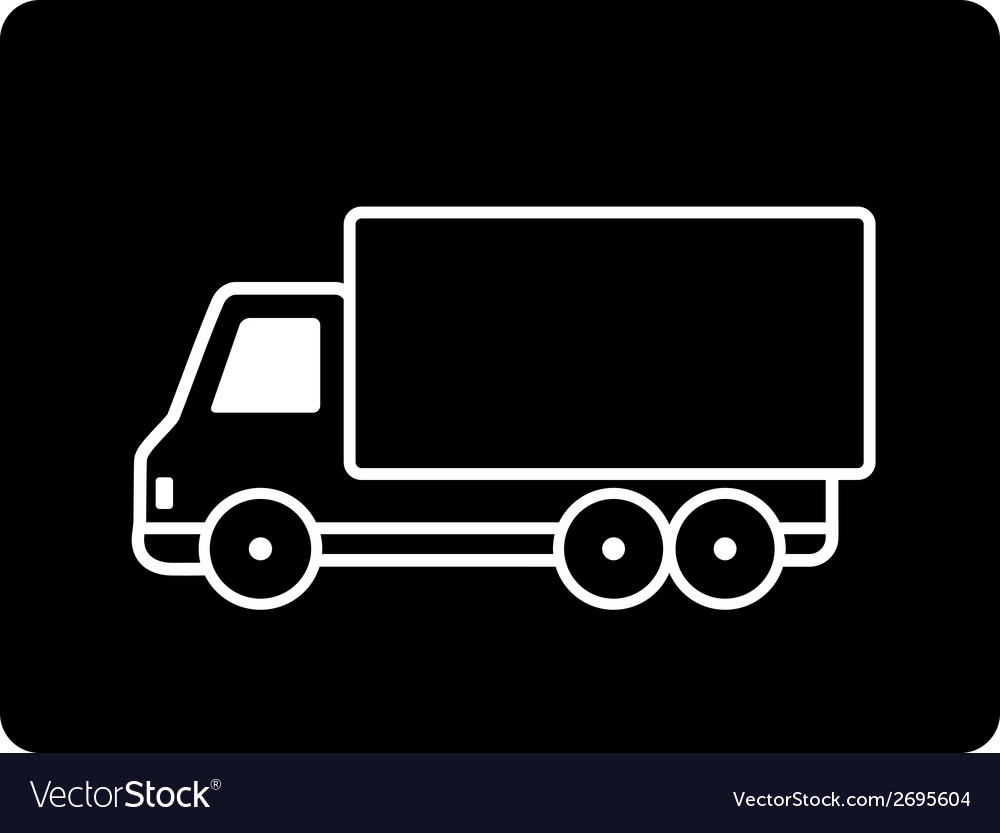 Black truck vector | Price: 1 Credit (USD $1)