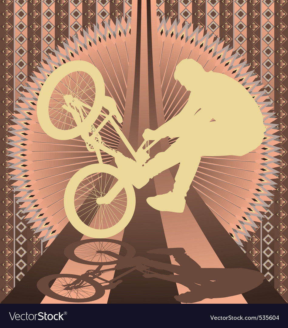 Bmx biker vintage design vector | Price: 1 Credit (USD $1)