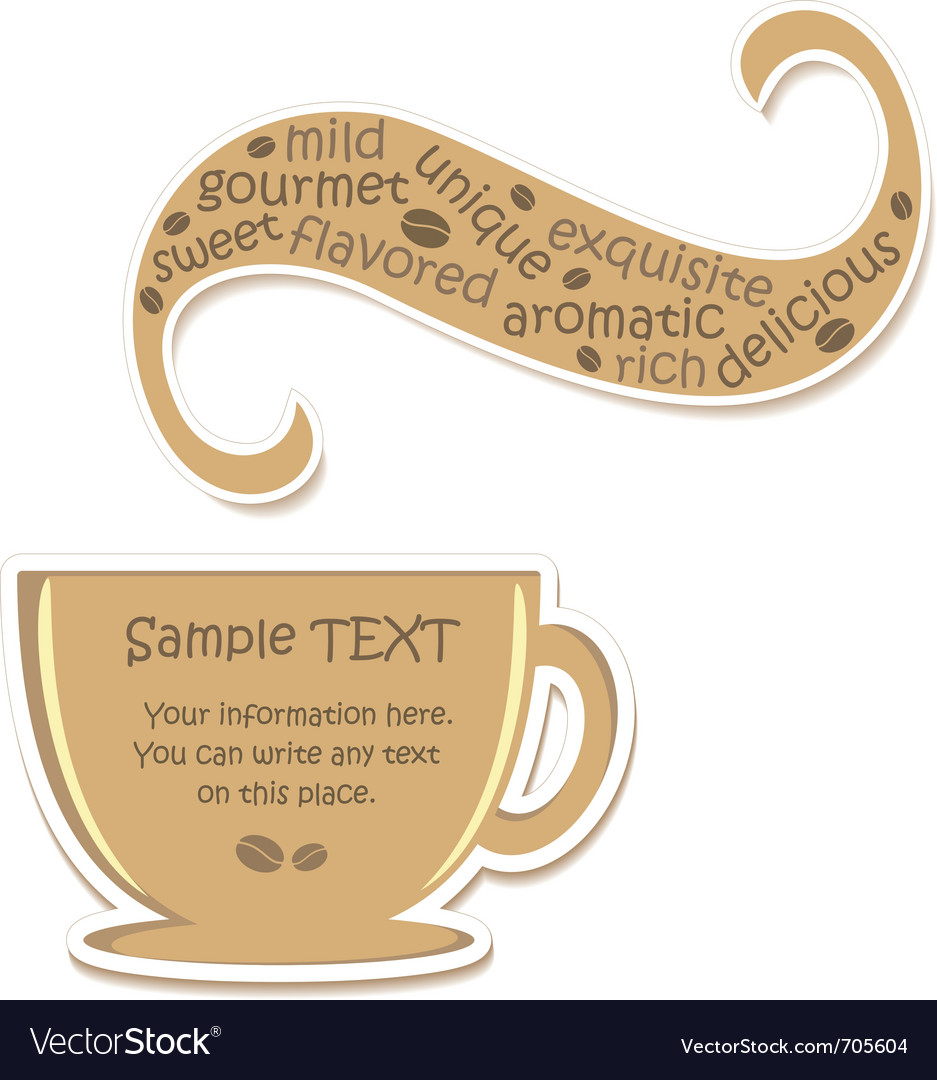 Coffee sticker vector | Price: 1 Credit (USD $1)
