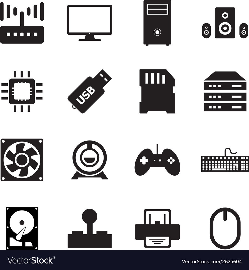 Computer hardware icon vector | Price: 1 Credit (USD $1)