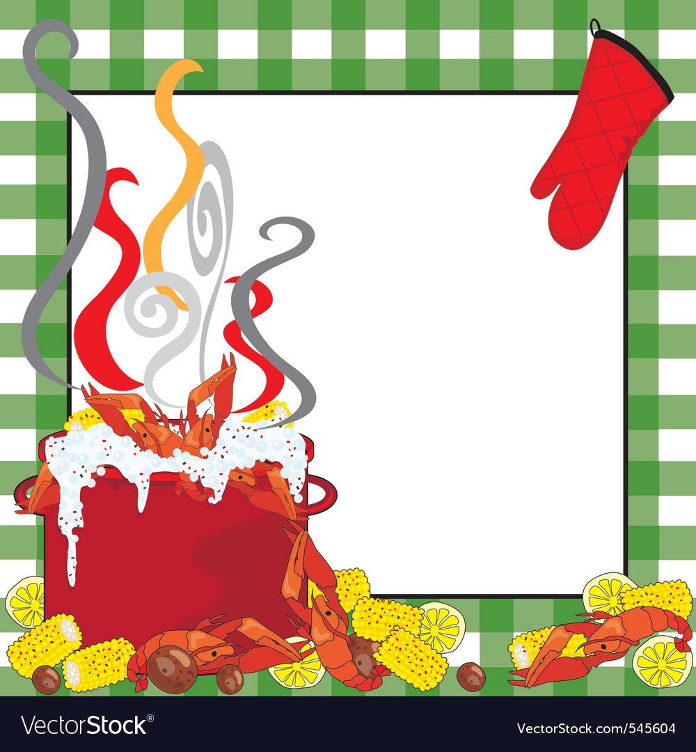 Crawfish boil invitation vector | Price: 1 Credit (USD $1)