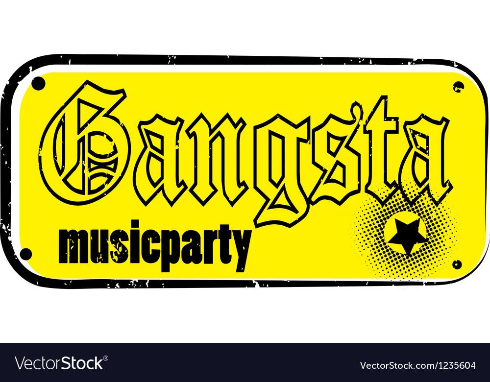 Gangsta stamp vector | Price: 1 Credit (USD $1)