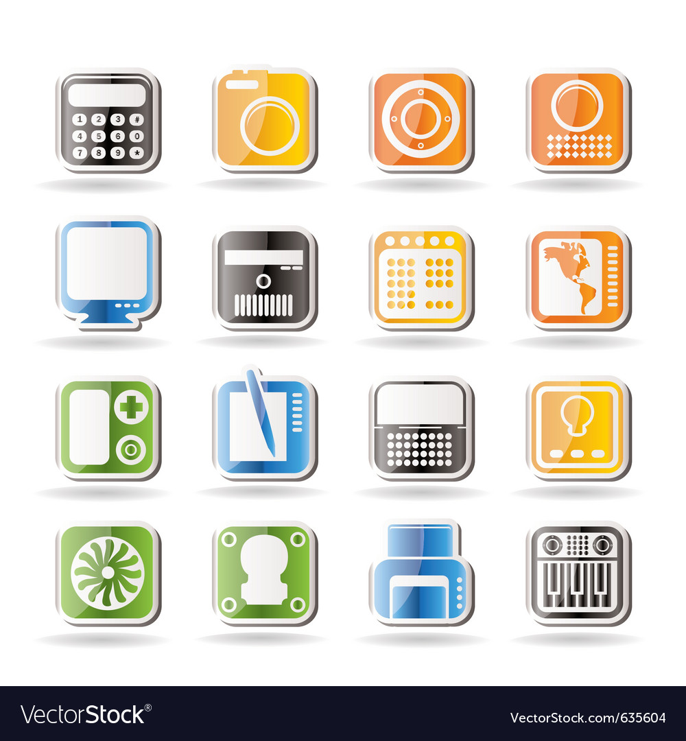 Hi-tech and technology equipment vector | Price: 1 Credit (USD $1)