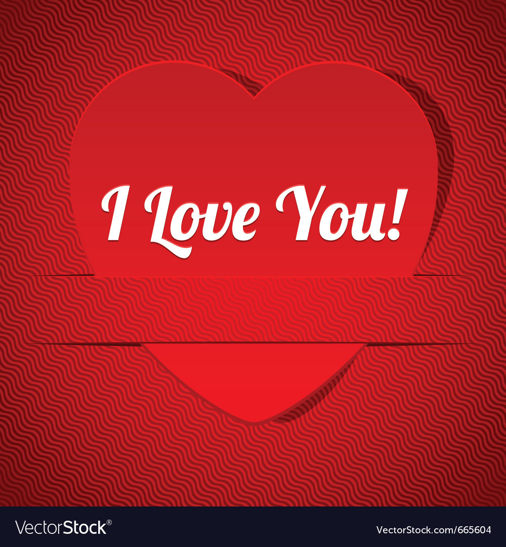 I love you vector | Price: 1 Credit (USD $1)