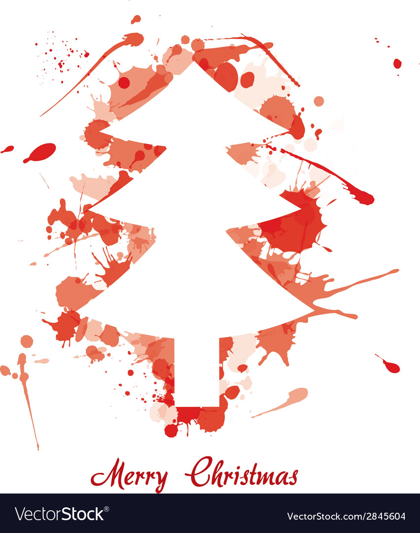 Ink christmas tree vector | Price: 1 Credit (USD $1)