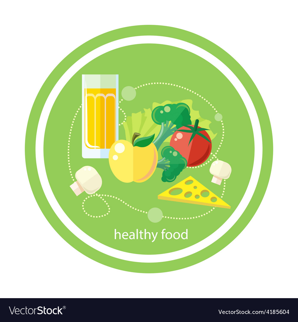 Organic health food vector | Price: 1 Credit (USD $1)